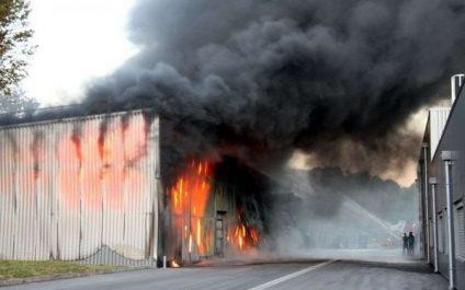 La piste criminelle privilégiée dans l'incendie d'une entrepôt de poudre de lait