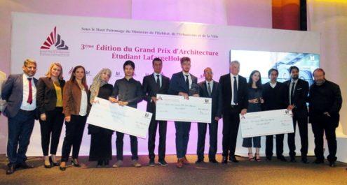 Cérémonie de récompense des lauréats du Grand Prix d'Architecture Étudiant LafargeHolcim 2018