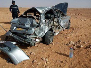 Un mort et 9 blessés dans un accident de la route à Ouargla