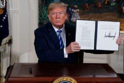 Trump annonce le retrait des Etats-Unis de l'accord nucléaire iranien