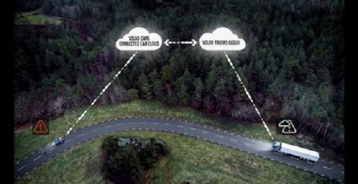 Technologie : Communication dans la circulation entre Volvo Trucks et Volvo Cars