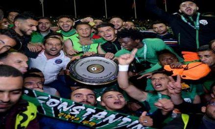 Ligue 1: le CS Constantine reçoit son bouclier de champion d'Algérie