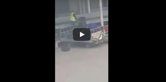Voilà ce que font les agents d'embarquement des valises des voyageurs au niveau de l'aeroport d'alger !