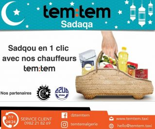 Opération tem:tem SADAQA : tem:tem, l'ETUSA et la fondation Ness El Khir se mobilisent ensemble pour les plus démunis pendant le Ramadan.