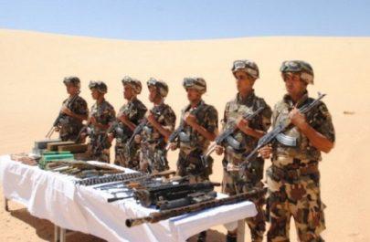 Découverte d'une cache d'armes et de munitions contenant sept  têtes de roquettes d'artillerie(MDN)
