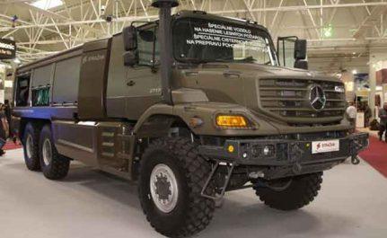 Industrie militaire : livraison de 410 véhicules de marque Mercedes-Benz