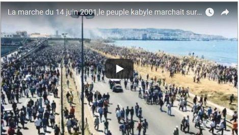 Vidéo: 14 juin 2001, la marche historique des arouch sur Alger