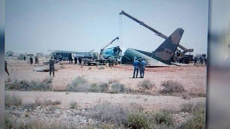 Un avion militaire sort de la piste à Biskra