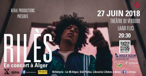 Deux dates, deux grands artistes, Rilès et Tiken Jah Fakoly à Alger le 27 et le 28 juin 2018 au Théâtre de Verdure