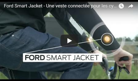 Sécurité routière : Une veste intelligente pour cyclistes signée Ford (Vidéo)