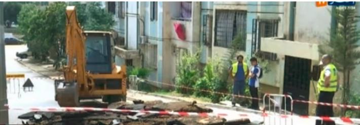 Vidéo: Explosion de la conduite d'eau principale de la ville de Bir Khadem