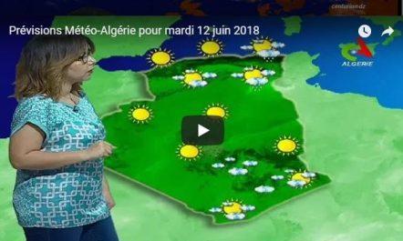 Prévisions Météo-Algérie pour mardi 12 juin 2018