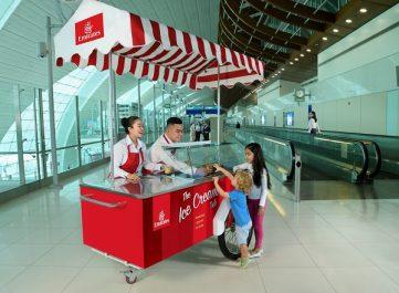 L'été se rafraîchit grâce au service de glaces gratuit d'Emirates