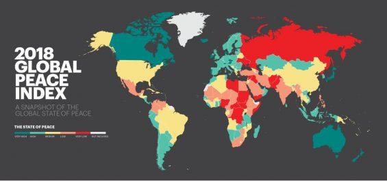 Classement 2018 des pays les plus pacifiques : L'Algérie 27e en Afrique et 109e au monde