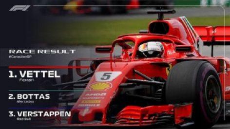 Formule 1 – Grand Prix du Canada : Vettel s'impose et reprend la tête