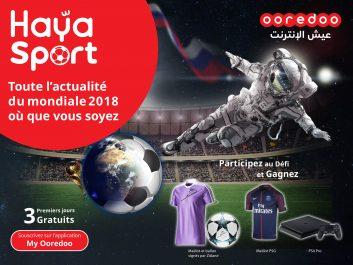 Vivez la passion de la Coupe du Monde 2018 avec « Haya! Sport » de Ooredoo