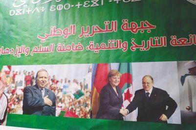 Un portrait de Bouteflika en compagnie de Merkel arboré mardi à Constantine : Aux bons souvenirs de Djamel Ould Abbès
