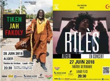 TIKEN JAH FAKOLY à Alger le 28 juin 2018 à partir de 20h30 au Théâtre de Verdure.