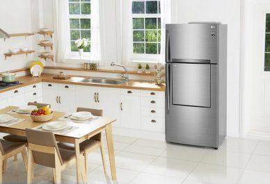 LG présente ses nouveaux réfrigérateurs de type top-freezer (avec congélateur sur le haut)