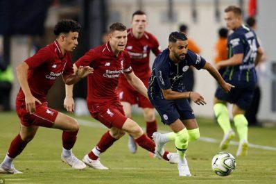 Amical : Mahrez et Man City chutent face à Liverpool. Salah buteur 52 secondes après son entrée en jeu
