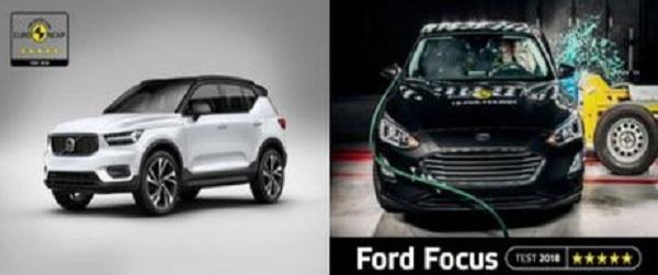 Euro Ncap : Carton plein pour Volvo XC40 et la Ford Focus