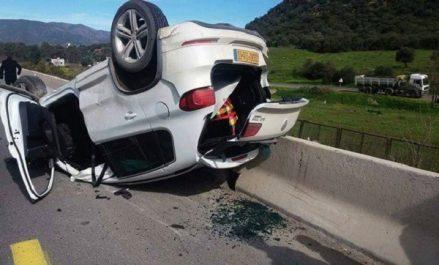 Accidents de la route: 5 morts et 20 blessés en 48 heures