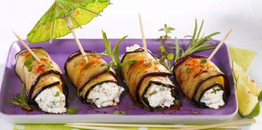 Recette: Crème d'aubergines au fromage de chèvre