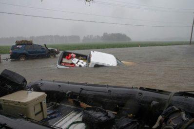Les inondations menacent dans l'est des Etats-Unis