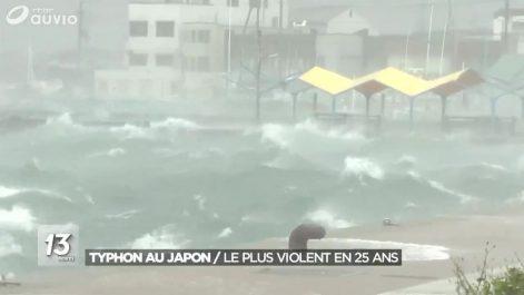 Le Japon directement touché par un très violent typhon