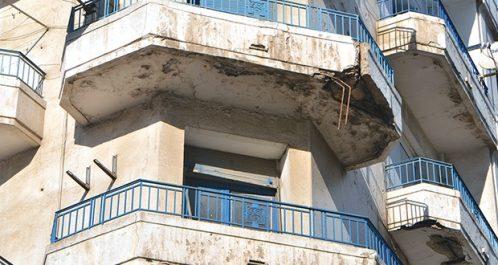 Effondrement de balcons à Hussein Dey (Alger)