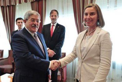 Ouyahia reçoit la Haute représentante de l'UE pour les Affaires étrangères et la politique de sécurité