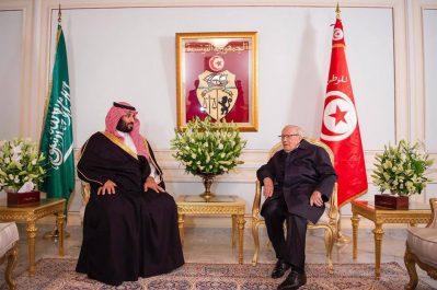 MBS arrive en Tunisie