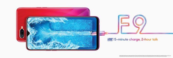 OPPO F9 fait ses débuts avec VOOC Flash Charge et un design aux couleurs dégradées