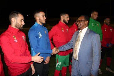 A la veille du match retour des 1/8 de finale de la Coupe arabe des Clubs champions: Une délégation de Ooredoo effectue une visite de courtoisie aux joueurs du Mouloudia Club d'Alger