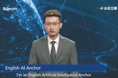 Les Chinois mettent au point un robot-présentateur télé