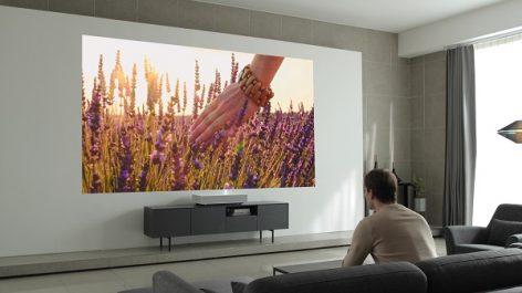Le nouveau projecteur Cinebeam Laser 4K de LG doté de la technologie ultra-courte portée au CES 2019