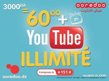 Avec la nouvelle SIM N'ternet de Ooredoo, profitez d'un maximum d'Internet haut débit et YouTube en illimité*