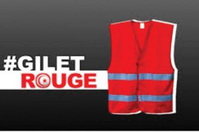"""Les Tunisiens lancent leur mouvement de """"gilets rouges"""""""