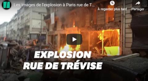 Paris: Une forte explosion fait 2 mort et plusieurs blessés !
