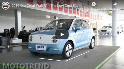 Great Wall propose une citadine électrique à moins de 8000€ [vidéo]