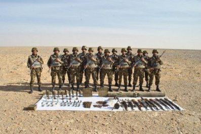 Découverte d'une cache d'armes et de munitions à Tamanrasset (MDN)
