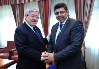 Ouyahia reçoit l'envoyé spécial du président mauritanien