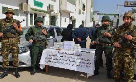3 narcotrafiquants arrêtés et plus de 50 kg de kif traité saisis à Tlemcen (MDN)