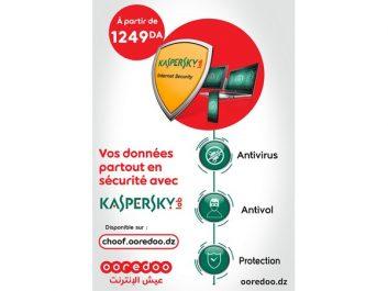 Assurez une protection optimale de votre vie numérique avec la nouvelle solution « Kaspersky Internet Security » by Ooredoo »