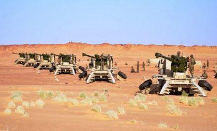 Gaïd Salah supervise un exercice tactique avec munitions réelles «Raad Assahraa»