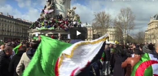 10 000 manifestants contre le 5ème mandat de Bouteflika à Paris ! [vidéo]