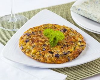 Recette: Omelette aux aubergines