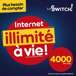 Nouvelle offre permanente La Switch de Ooredoo : Avec « La Switch» … l'Internet en illimité revient