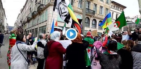 Vidéo : les algériens de Saint-Etienne protestent contre le prolongement du 4e mandat de Bouteflika