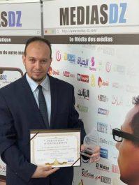Le journaliste Abd Raouf Hammouche a gagné le prix du meilleur chargé de communication de l'année 2018.